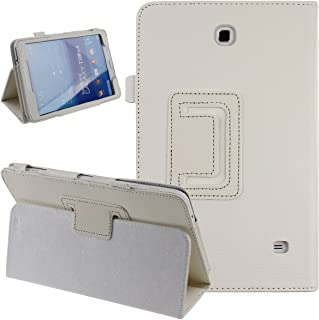 Galaxy Tab 4 8.0 Case, NSSTAR Simple Color Slim PU Leather Folio Protective Case Cover with Stand for Samsung Galaxy Tab 4 8.0 T330 T331 8 Inch Tablet (White)