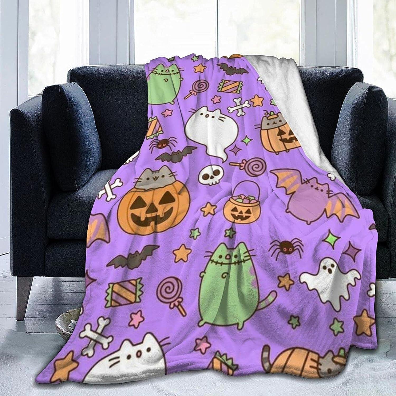 Kawaii Halloween Mail order cheap cat bat Pumpkin Bombing new work Soft Background Purple Ghost in