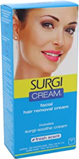 Surgi Cream Hair Remover Face 1 Ounce Fresh Scent (29ml) (2 Pack)