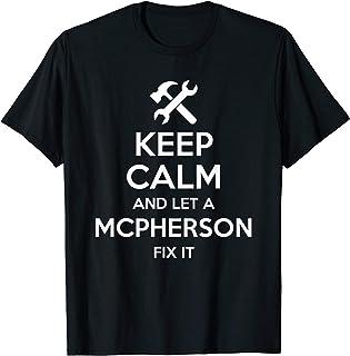 MCPHERSON Funny Surname Birthday Family Tree Reunion Gift T-Shirt