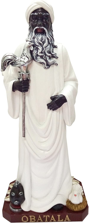 Obatala Statue latest Orisha Holy Man Figurine Powerful Los Angeles Mall