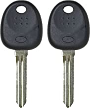 qualitykeylessplus Pair of Replacement Transponder Chip Keys Compatible with Select Hyundai Vehicles HYN14PT with Free KEYTAG