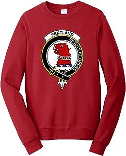 Tenacitee Men`s Scottish Clan Crest Badge Pentland Sweatshirt