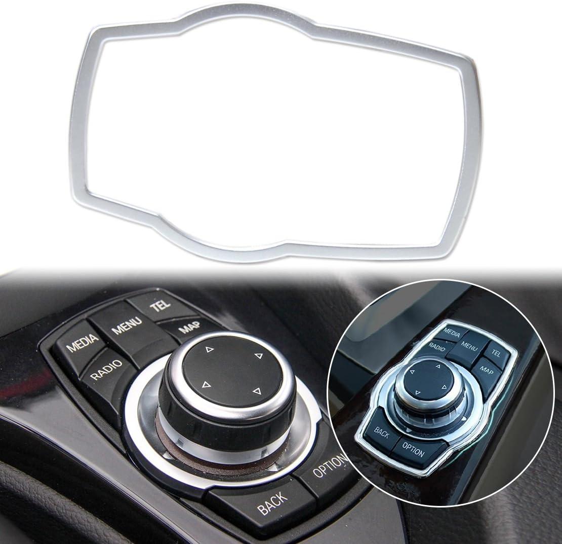 Beler Silber Car Innenraum Multimedia Button Abdeckung Dekor Molding Trimm Dekoration Auto