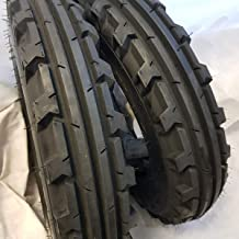 (2 TIRES + 2 TUBES) 6.00-16 ROAD WARRIOR 8 PLY KNK30 Farm Tractor Tire 60016 6.00X16