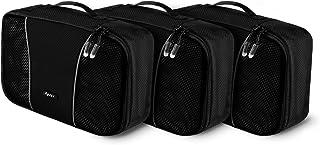 Ryaco Kleine Kleidertaschen, 3 Stück, Koffer Organizer Packing Cubes Packtaschen Verpackungswürfel Gepäck Aufbewahrung Taschen Koffer Organizer, Schwarz