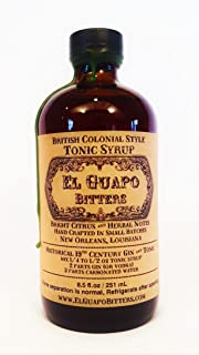 El Guapo Bitters Tonic Syrup - British Colonial Style 16.5oz glass bottle