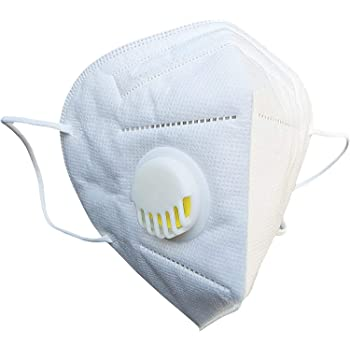 atongm N95 Face Mask, (Pack-2 PCS) Protective Mask5-Ply Respirator Filters, Anti-Pollution Mask Dust Protection Unisex Mouth Face Mask Flat Fold Respirator