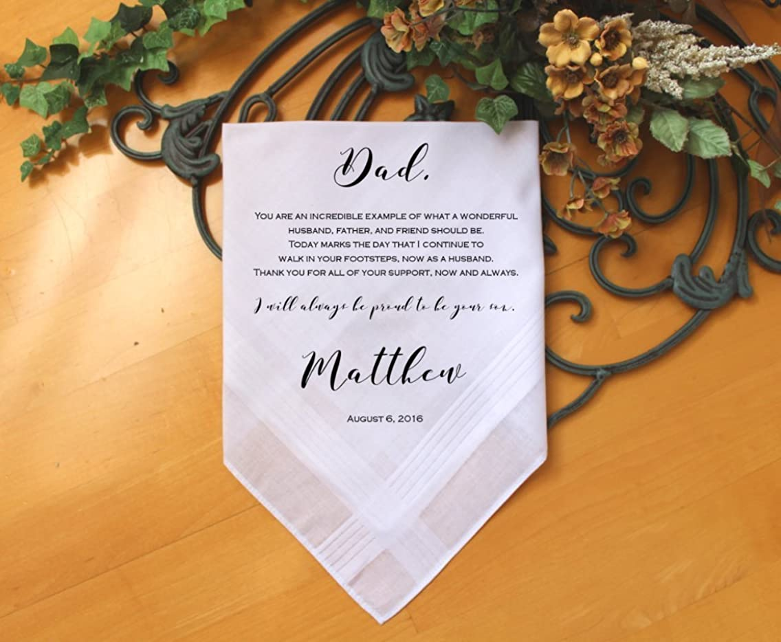 Father of the Groom handkerchief from Groom, You are an incredible example of, custom PRINTED wedding handkerchief, Personalized. FPadCop by Snugahug[13]