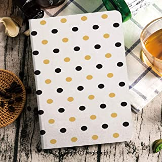 Cover Compatible for New iPad Mini 5th Generation 2019 Case,Frosted Back Protector Smart Case with Auto Wake/Sleep,Smart Cover Fit iPad Mini 5 2019,Black Yellow Seamless Bees Pattern On Polka Dots Bac