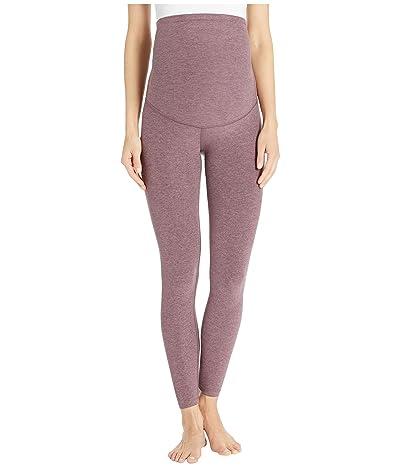 Beyond Yoga Maternity Empire Waisted Spacedye Long Leggings (Deep Blush/Wild Orchid) Women