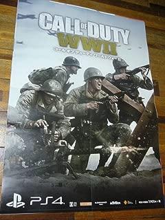 貴重 B2大 ポスター コール オブ デューティ ワールドウォーII Call of Duty
