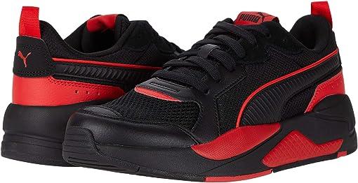 Puma Black/Puma Black/High Risk Red
