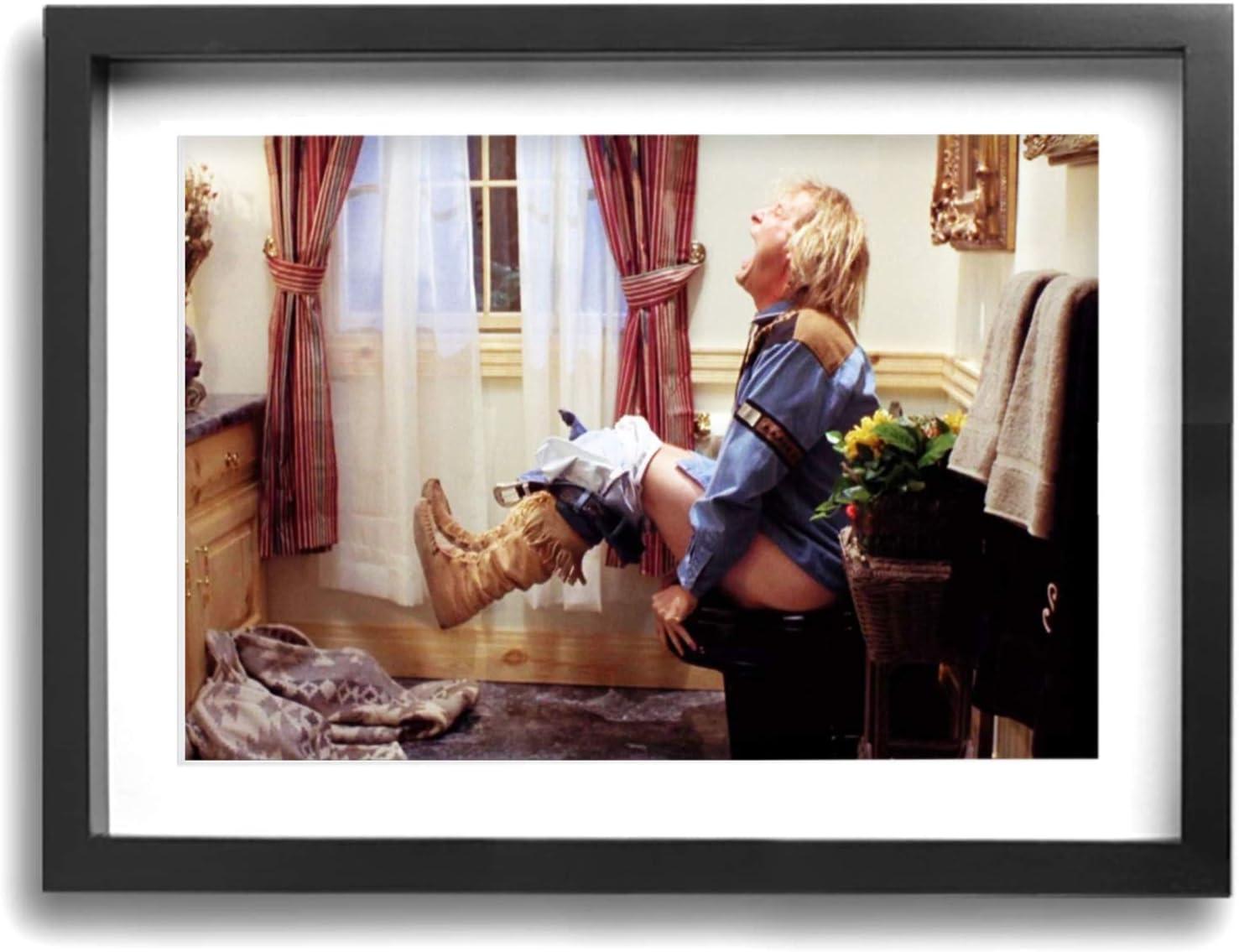 Antonia Bellamy Dumb Movie Wall Art The Toilet Poster Funny Dumber Bathroom Art Frame 12