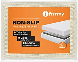 I FRMMY Non Slip Full Size Mattress Gripper and Area Rug Pad, Keeps Mattress Rug in Place - Full Size 52.5 x 74 in (4.4 x 6.2 ft)