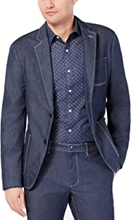 Mens Chambray Two Button Blazer Jacket