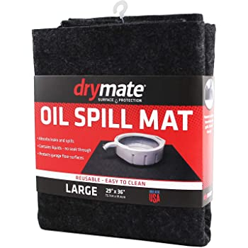 Drymate Oil Spill Mat, Premium Absorbent Pad Contains Liquids – Reusable/Durable/Waterproof – Protects Garage Floor Surface (Made in The USA)