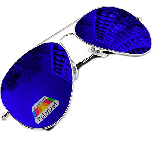 de1477d7a2 Vintage Retro Original Pilot Mirrored Mirror lens Polarized Sunglasses  Glasses Air Force Unisex Vintage lens UV400