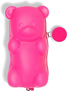 decca c. Strawberry Scented Hot Pink Candy Bear Cute Coin Purse Novelty.