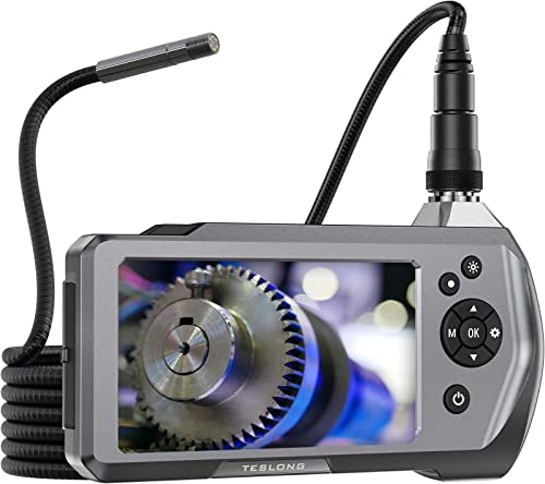 "Teslong Industrial Endoscope Camera, 0.21"" Waterproof Borescope Inspection Camera with Upgraded 4.5"" IPS Monitor, 9.8..."