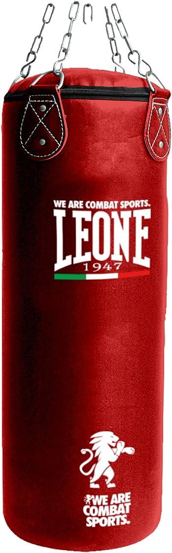 Sacco da boxe leone 1947 - 30kg sacco basic, unisex – adulto, rosso, 110x35 AT840