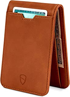 Vaultskin MANHATTAN Slim Bifold Wallet with RFID Protection for Cards and Cash (Cognac)