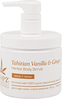 Tahitian Vanilla & Ginger Herbal Body Scrub - 16 Ounce