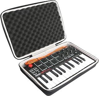 Khanka Hard Travel Case Replacement for Akai Professional MPK Mini MKII 25-Key USB MIDI Controller (2)