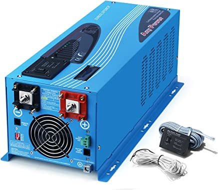 SUNGOLDPOWER 2000W Peak 6000W Pure Sine Wave Power Inverter DC 12V AC 110V With Battery AC