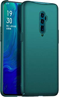 GOGODOG Compatible with Oppo Reno 10X Zoon Case Full Cover Ultra Thin Matte Anti Slip Scratch Resistant Back Shell (Scrub Green)