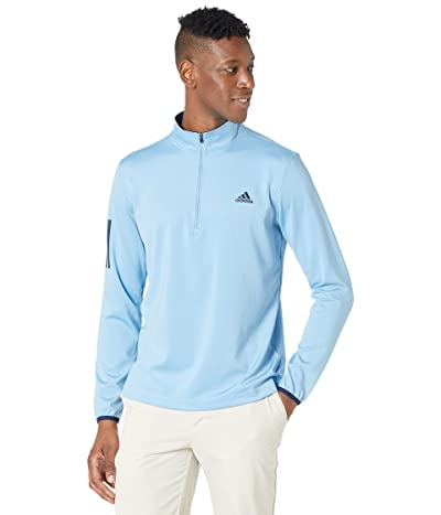 adidas Golf 3-Stripes Midweight Layer Left Chest (Team Light Blue/Collegiate Navy) Men