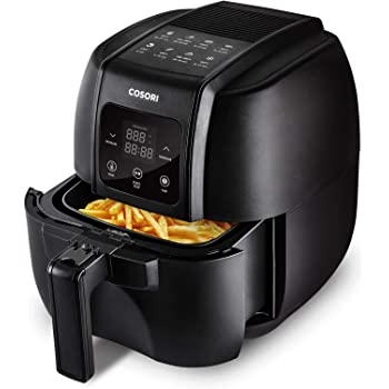 COSORI Air Fryer,1500-Watt Electric Air Fryers Oven & Oilless Cooker for Roasting,LED Digital Touchscreen Preheat with 8 Reference Guides,Easy to Use/Clean with Detachable Nonstick Basket,3.4QT,Black