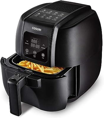 COSORI CO134-AF Air Fryer, Oilless Oven Cooker with 8 menus LED Digital Touchscreen, Preheat, Detachable Nonstick Basket,1500W, 3.4QT, BLACK