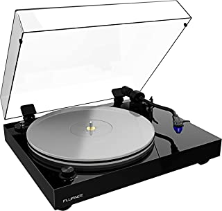 Fluance RT85 Reference High Fidelity Vinyl Turntable Record Player with Ortofon 2M Blue Cartridge, Acrylic Platter, Speed Control Motor, Solid Wood Plinth, Vibration Isolation Feet - Piano Black