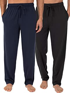Fruit of the Loom Men's 2-Pack Jersey Knit Pajama Pants