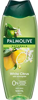 Palmolive Naturals White Citrus Body Wash With Lemongrass 0% Parabens Recyclable, 500mL