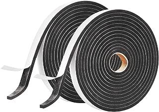 2 Pack Foam Seal Tape for Door Window Insulation, Soundproof and Shockproof Foam Adhensive Strip, 3/8