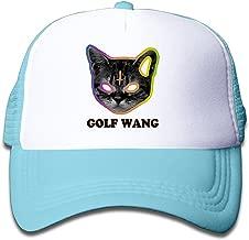 WH&SY Ofwgkta Golf Wang Cat Children Mesh Trucker Cap Adjustable Fashion Kids Mesh Snapback Hat Mesh Hat SkyBlue