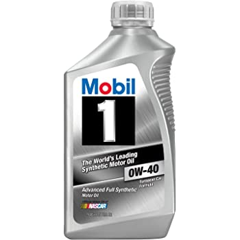 Mobil 1 96989 0W-40 Synthetic Motor Oil - 1 Quart (Pack of 6)