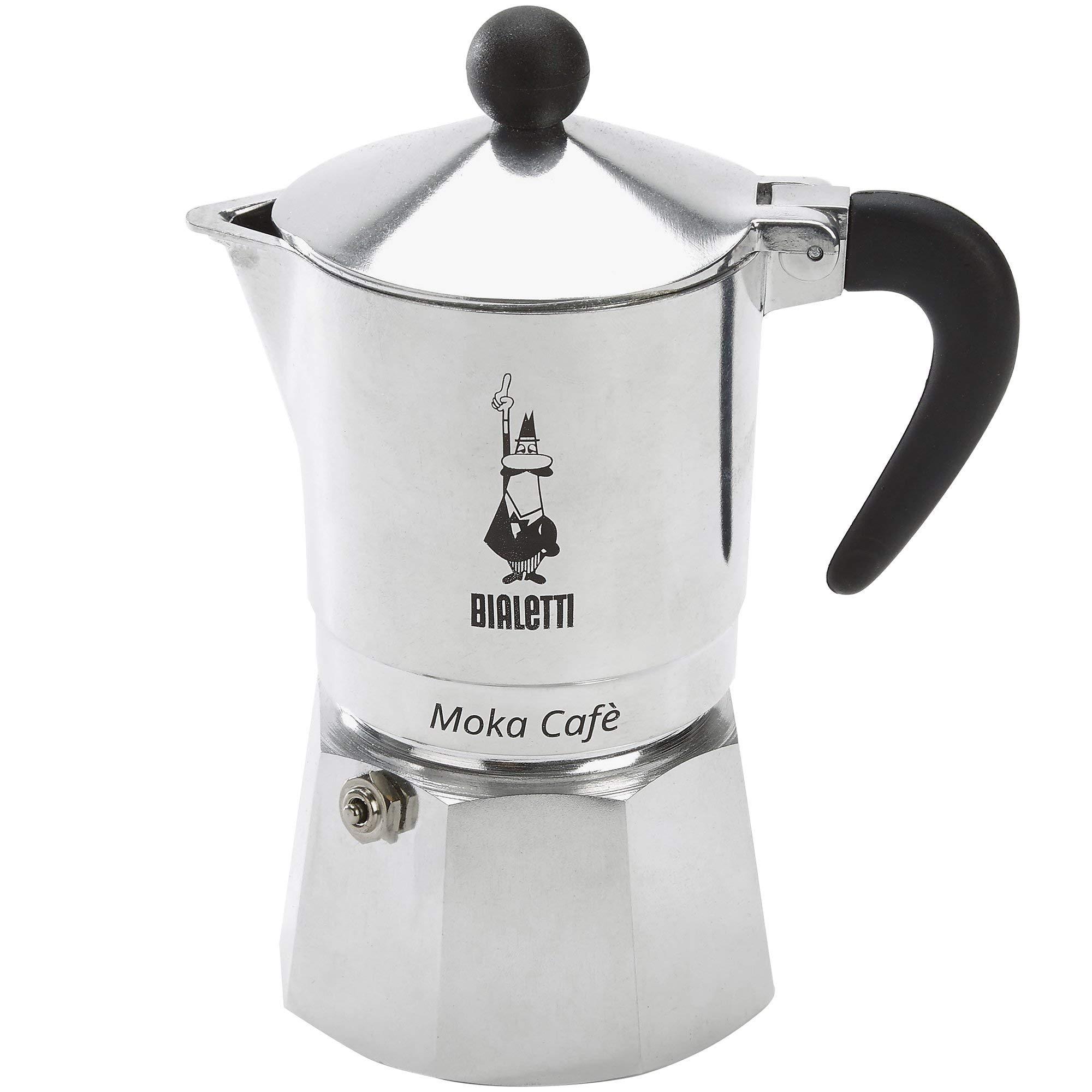 Bialetti Break para Cafetera Espresso 3 Tazas, Aluminio, Negro/Plata, 13 x 9 x 17 cm: Amazon.es: Hogar