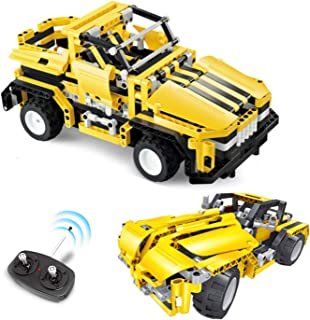 STEM Toys Remote Control Building Sets for Boys 8-12 | 426 Pcs RC engineering Kit Builds Off Road Car or RC Racer (2in1) S...