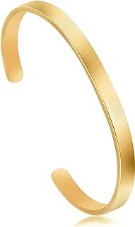 mens gold band bracelet