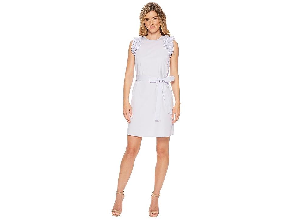 MICHAEL Michael Kors Sleeveless Ruffle Dress (Light Quartz) Women
