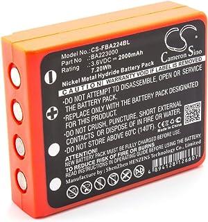 vhbw NiMH batería 2000mAh (3.6V) para Mando a Distancia para grúas, Control Remoto como HBC BA223000