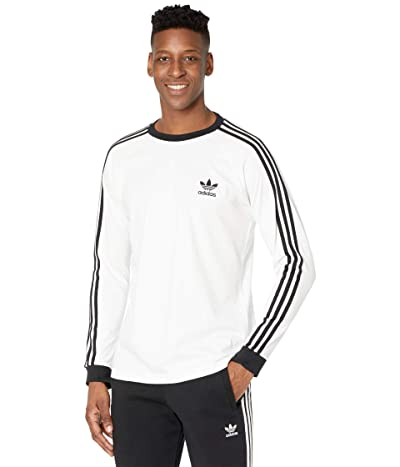 adidas Originals 3-Stripes Long Sleeve Tee (White 2) Men