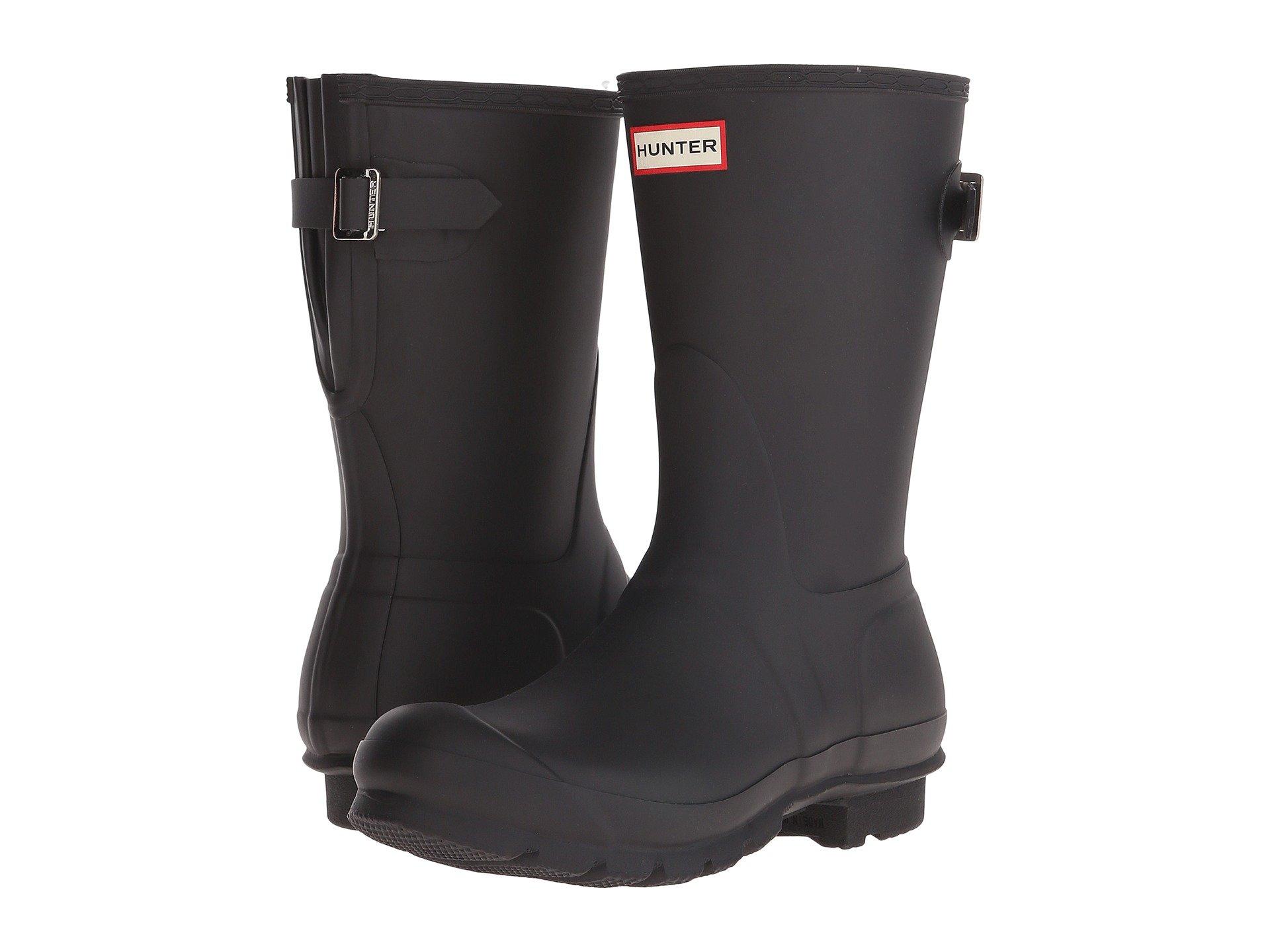 Back Rain Original Boots Hunter Short Adjustable Black SxOF0w