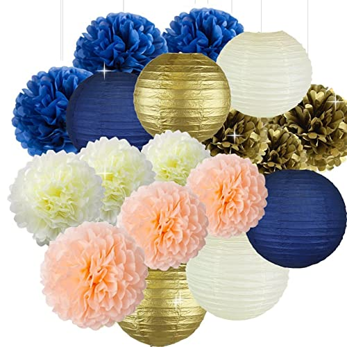 Navy Blue And Peach Wedding Decorations Amazon