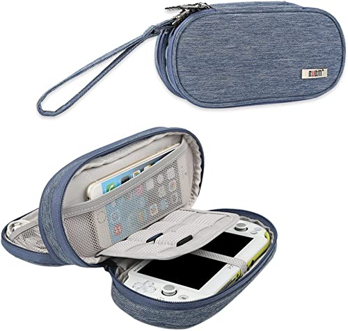 BUBM Étui pour Sony PS Vita, Sac de rangement pour PSV, PSP et Accessoires, Bleu
