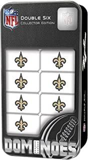 MasterPieces NFL New Orleans Saints, Double Six Collector Edition Dominoes Game, For Ages 3+