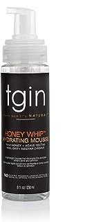 tgin Honey Whip Hydrating Mousse For Natural Hair - Dry Hair - Curly Hair - Damaged Hair - 8 Oz